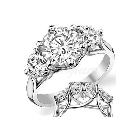 fb41dfdd30f6 M-2965 Золотое помолвочное кольцо с муассанитом. Купить за 37500 руб ...