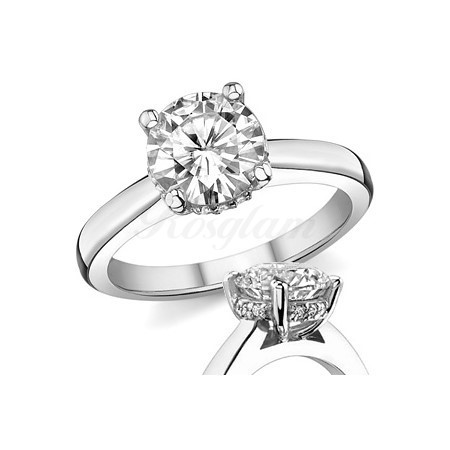 b8f59d751b4a M-36 - Золотое кольцо для предложения с муассанитом. Цена 38300 руб ...