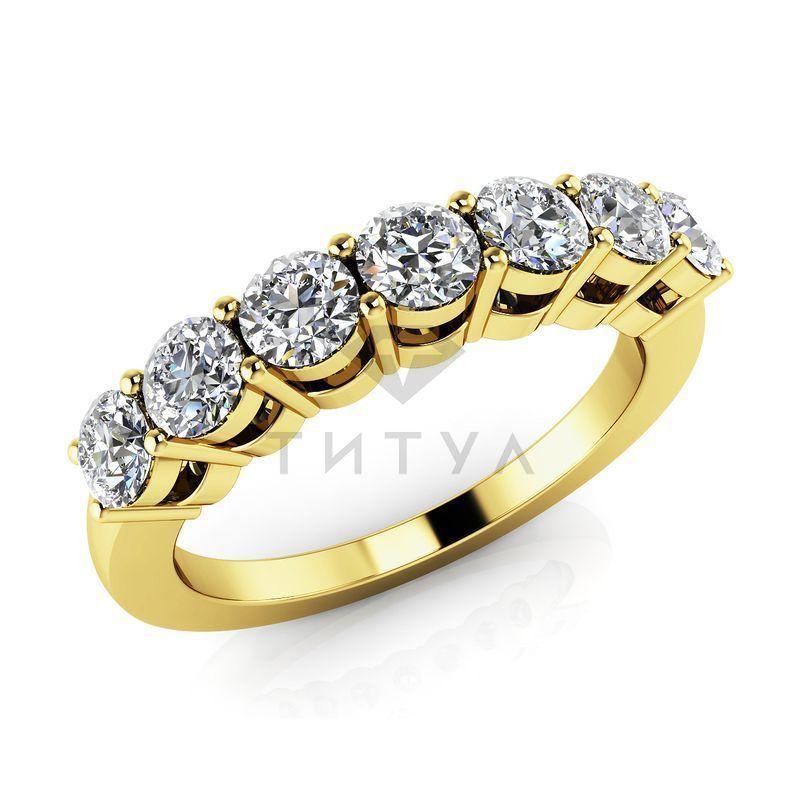b1c83b4c74f2 Обручальное кольцо из желтого золота с муассанитами - MUS1815 -  www.rosglam.ru