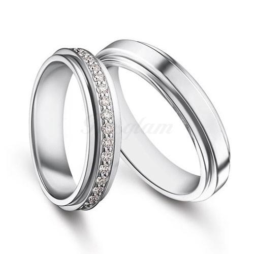 Золотые обручальные кольца парные с бриллиантами (ширина 6 мм.) 90500 р.  Пара обручальных колец (любой цвет золота). Эксклюзивно! 0f296063f63