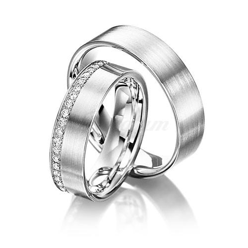 2К-925 - Золотые обручальные кольца парные с бриллиантами (ширина 6 ... 2df69fa2816